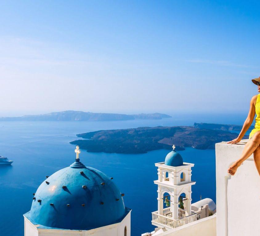 vue sur une île grecque